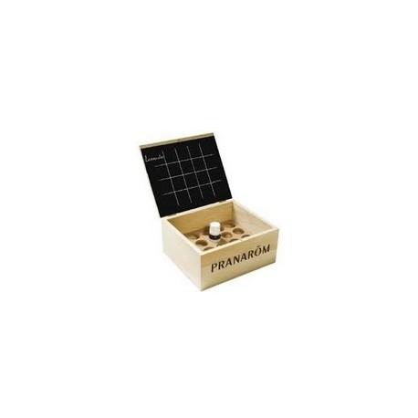 Mini Aromathèque vide , Coffret en bois. Capacité: 20 flacons de5 ml et de 10 ml