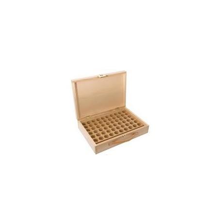 Aromathèque vide , Coffret enbois pouvant contenir 60 flacons de 5 ml et de 10 ml